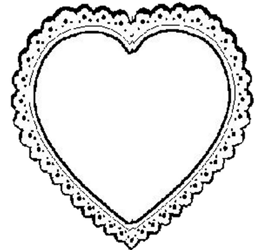 jpg royalty free library Lace . Heart clipart black