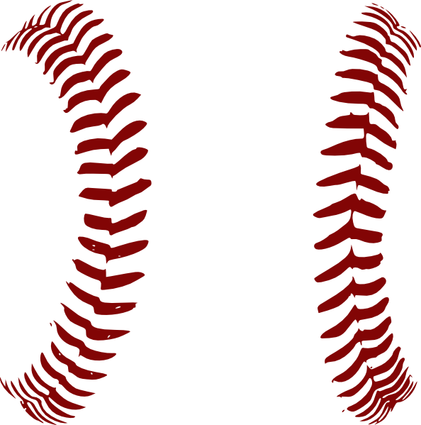 graphic black and white stock Red Softball Laces Only Clip Art at Clker