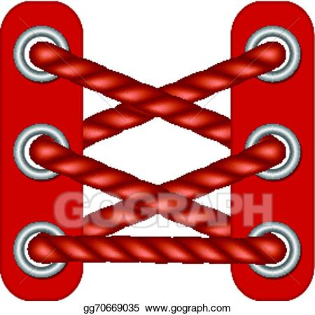 jpg freeuse download Laces clipart. Vector in dark red