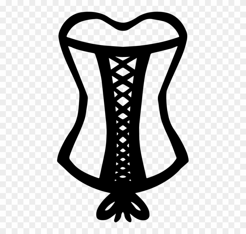 vector download Laces clipart brown lace. Corset drawing hd png.