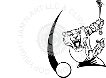 clip art transparent Wolverine throwing lacrosse ball
