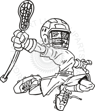 graphic royalty free stock Lacrosse Player Drawing at GetDrawings