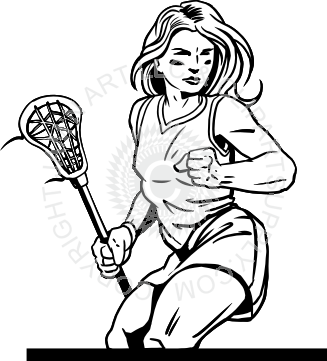 transparent download Girls Lacrosse Drawing at GetDrawings