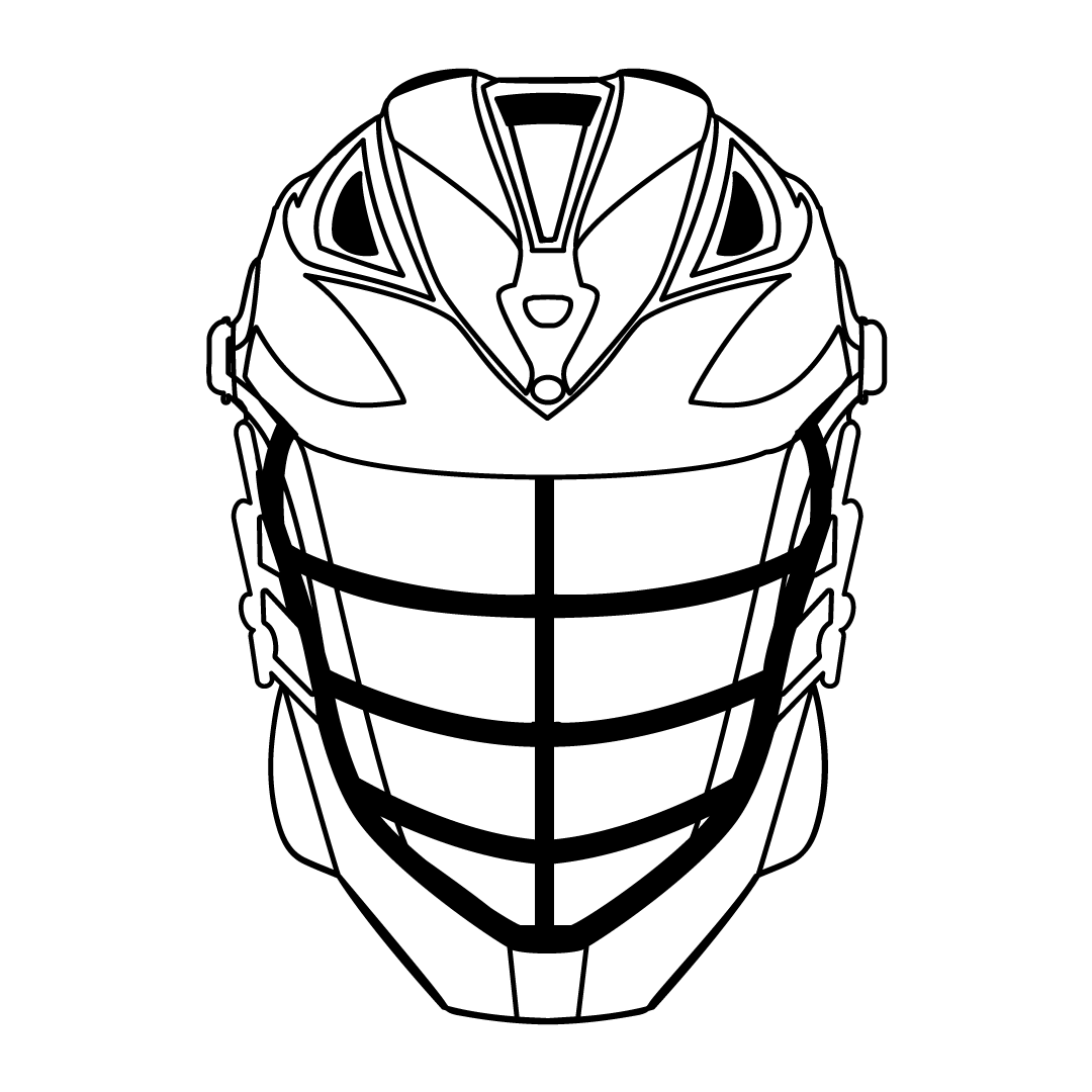 clipart royalty free library Hockey Helmet Drawing at GetDrawings