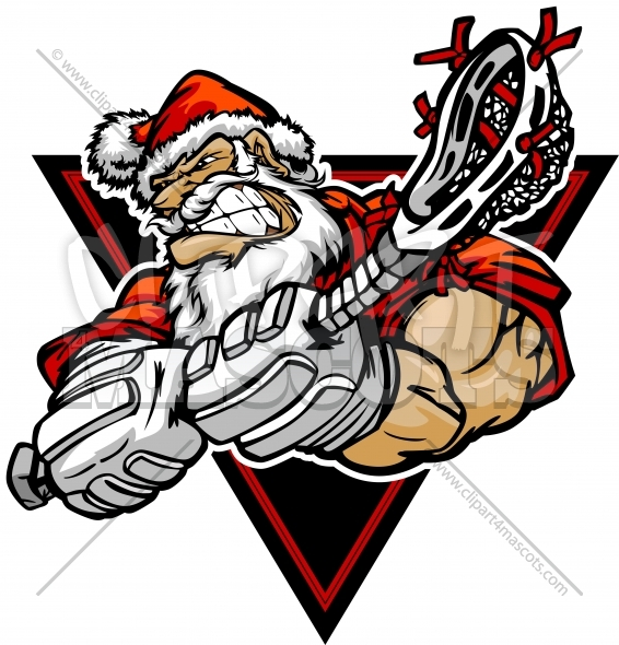 clipart library Christmas player clipart image. Lacrosse vector edit