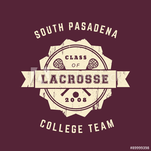 clip freeuse stock College team vintage grunge. Lacrosse vector edit