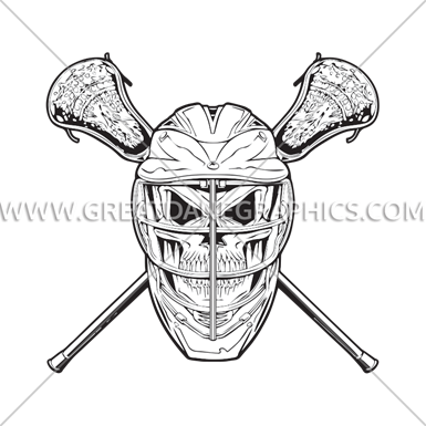 picture stock Lacrosse Skull