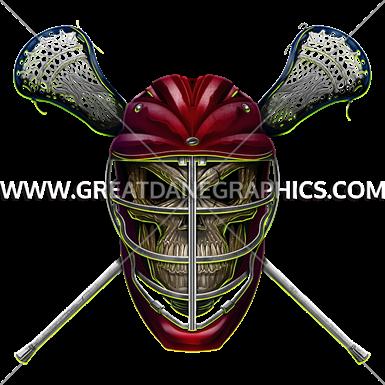 banner royalty free stock Lacrosse Skull
