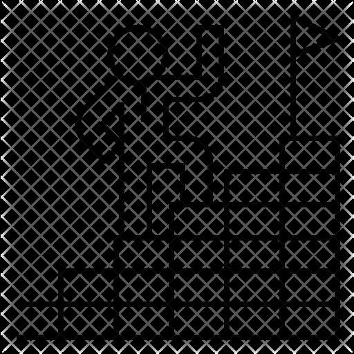 vector black and white stock Success icon design development. Ladder black and white clipart