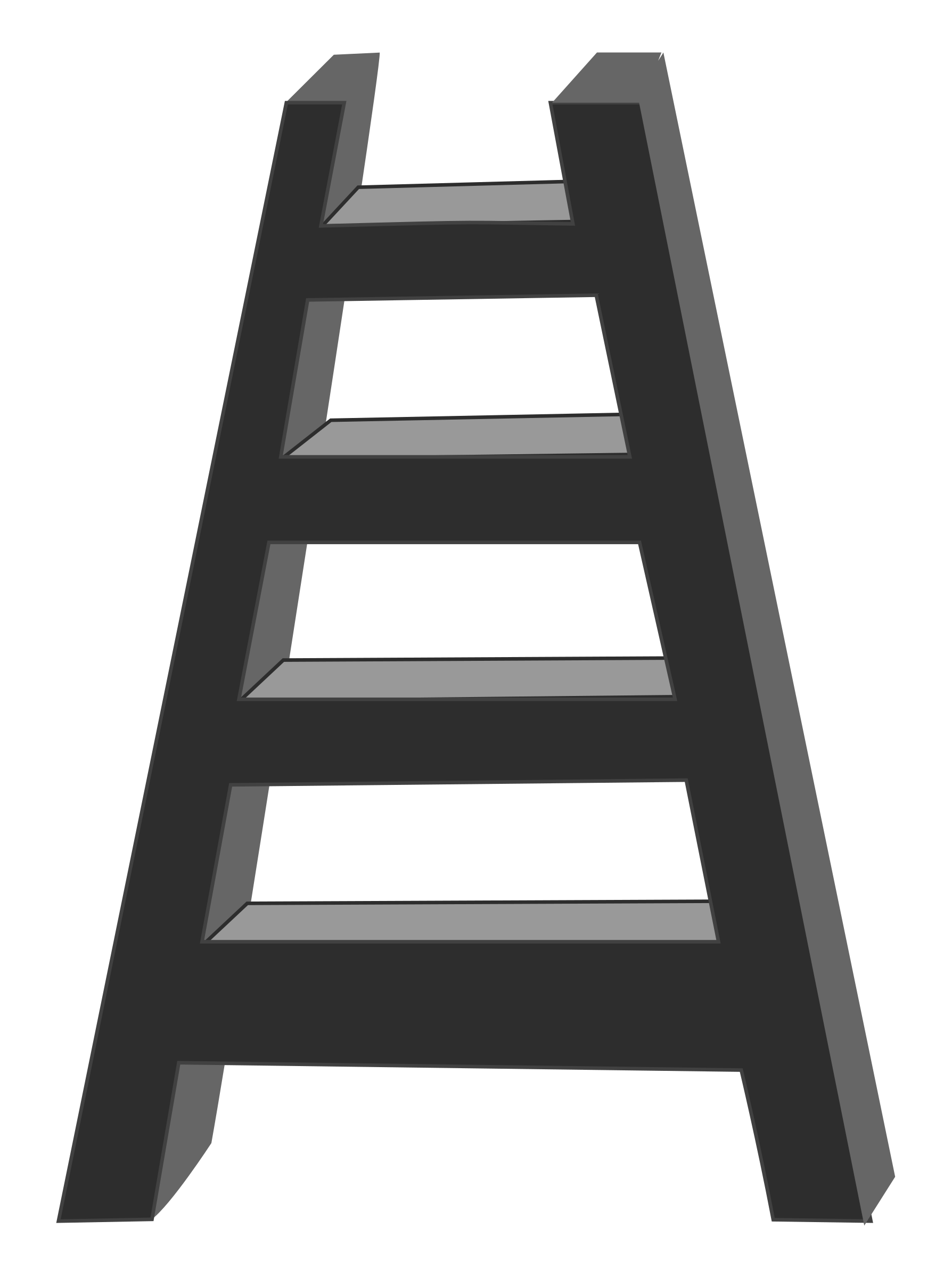 free stock Ladder black and white clipart. Big image png.