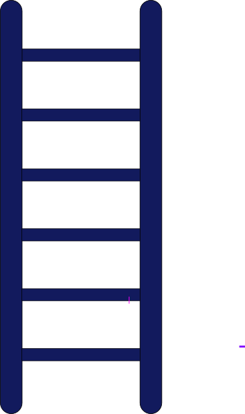 black and white Ladder Of Growth Clip Art at Clker