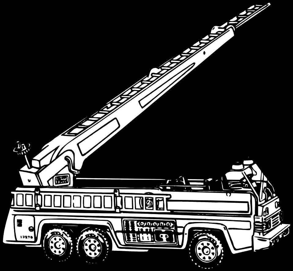 jpg download Fire ladder clipart. Black and white elegant