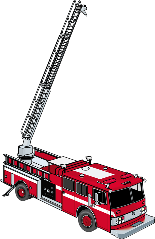 vector black and white library Firefighter ladder clipart. Fire engine department clip