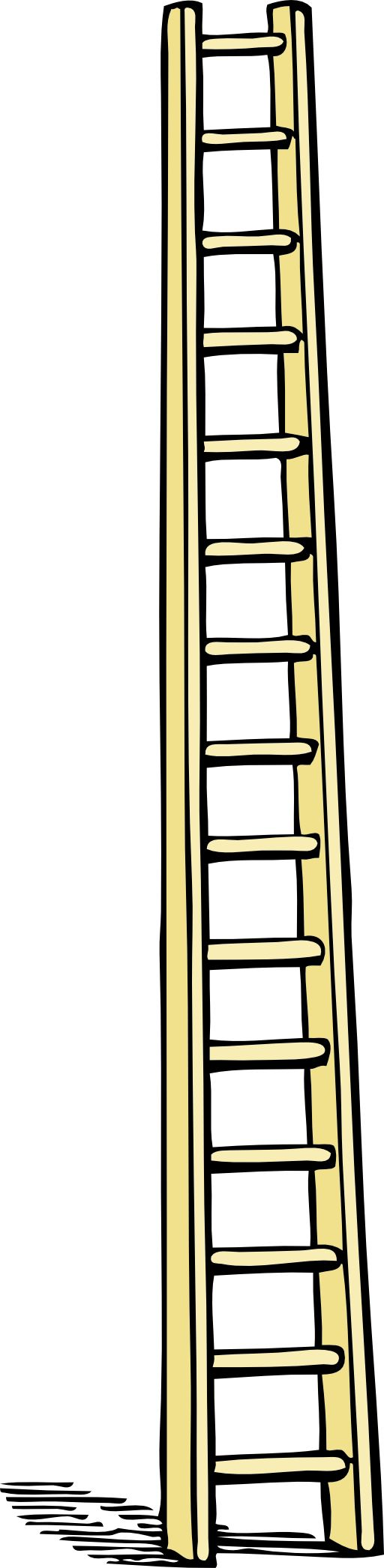 clipart black and white stock Clipart coloring . Ladder transparent colouring page