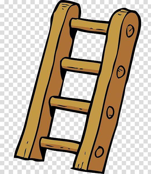banner Brown cartoon wooden . Ladder transparent illustration