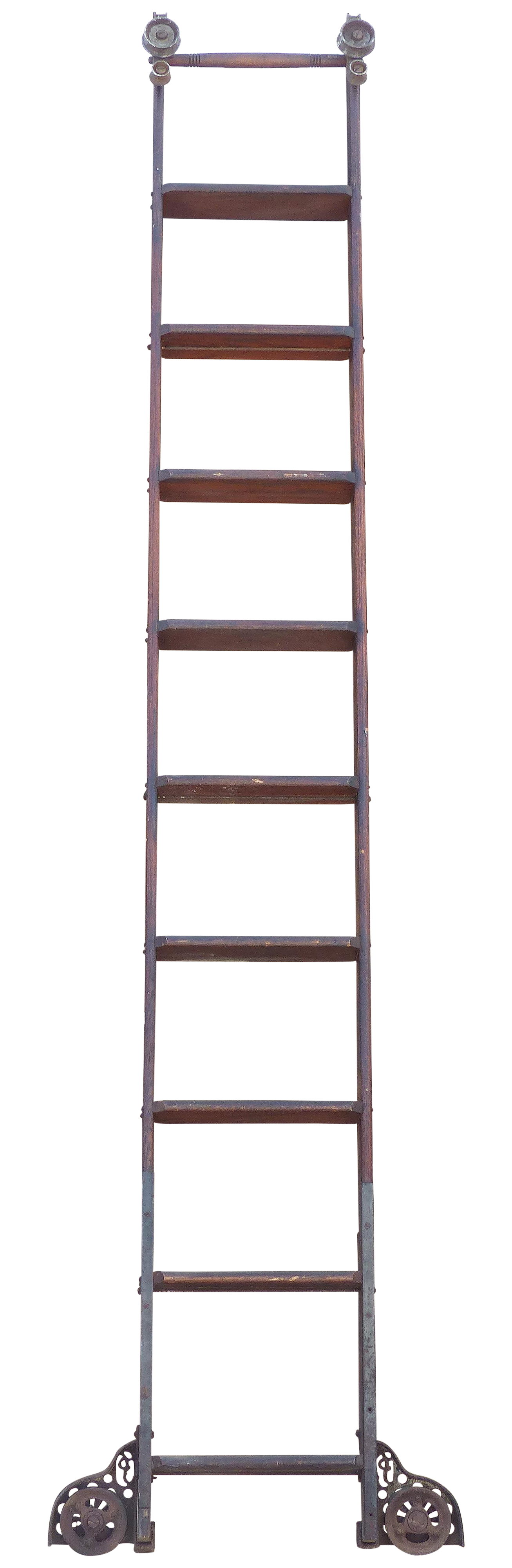 graphic free Antique Library Ladder by Putnam Rolling Ladder Co