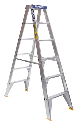 black and white Ladder Aluminium