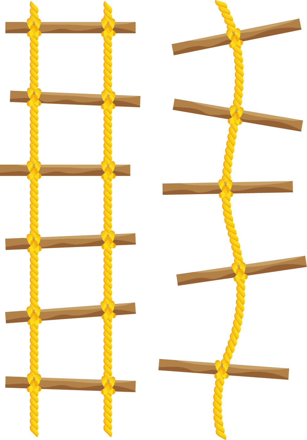 clipart Yellow Ladder Line