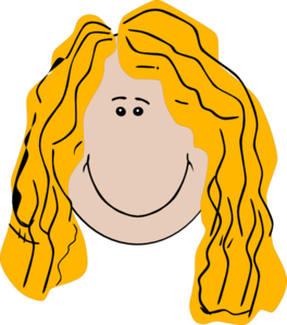 transparent library Long Hair Girl Clip Art at Clker