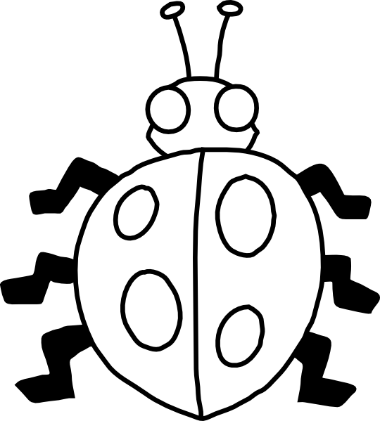 image Ladybug clipart black and white. Clip art at clker