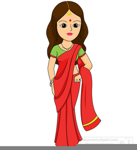 banner royalty free library Lady clipart. In saree free images.