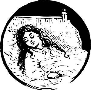 picture black and white download Lady clipart sleepy. Sleeping girl clip art.