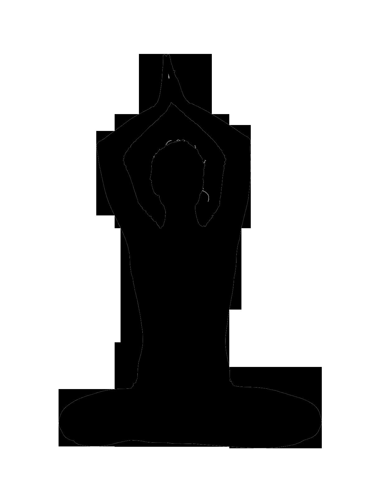 clip transparent download Silhouette inspiration pinterest silhouettes. Lady clipart yoga.