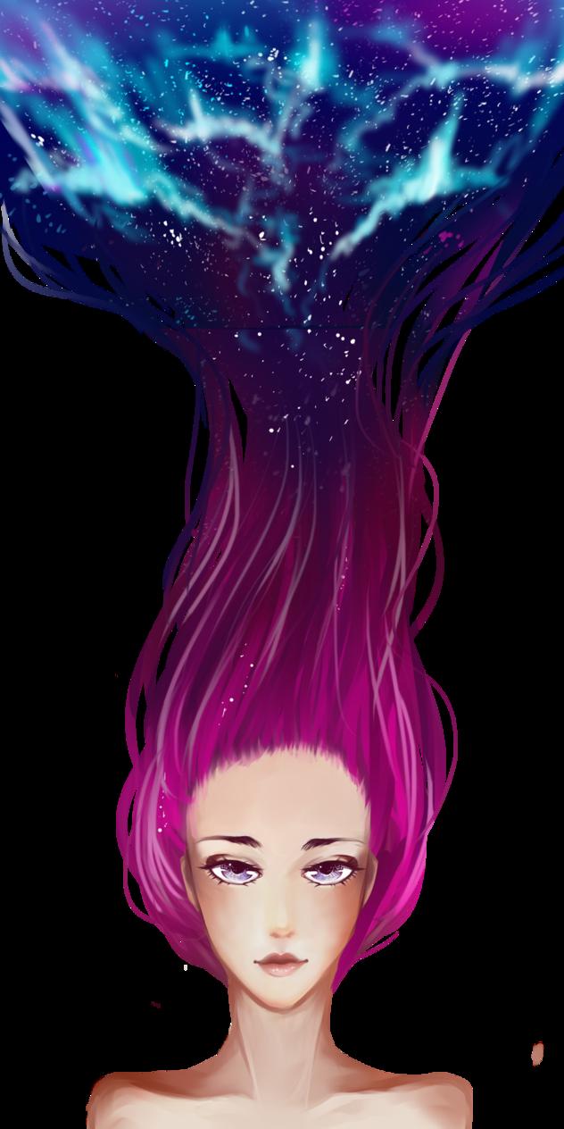 png transparent Galaxy Hair Drawing at GetDrawings