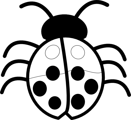 banner free Panda free images info. Ladybug black and white clipart