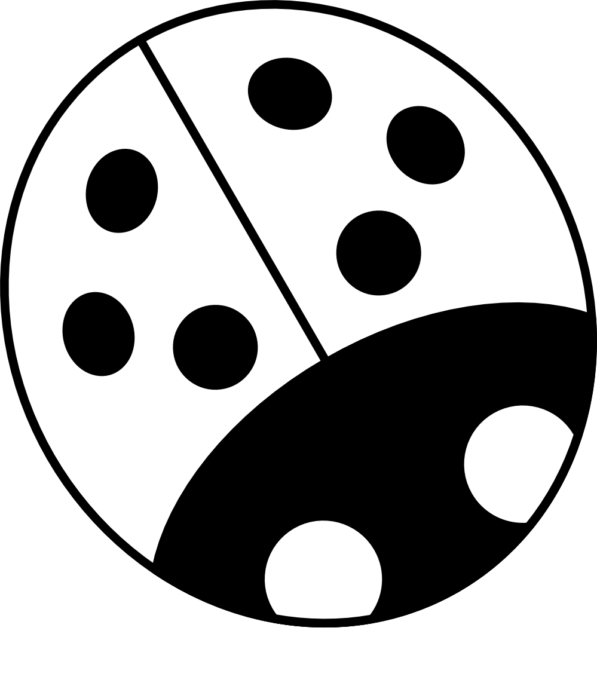banner free Line panda free images. Ladybug clipart black and white