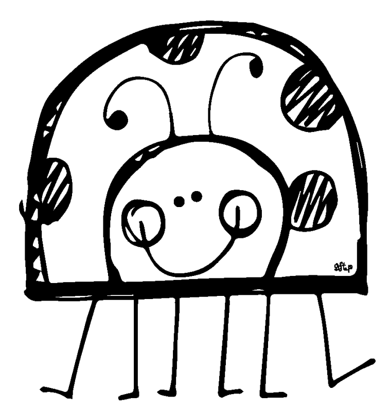 graphic library Cute drawing at getdrawings. Ladybug clipart black and white