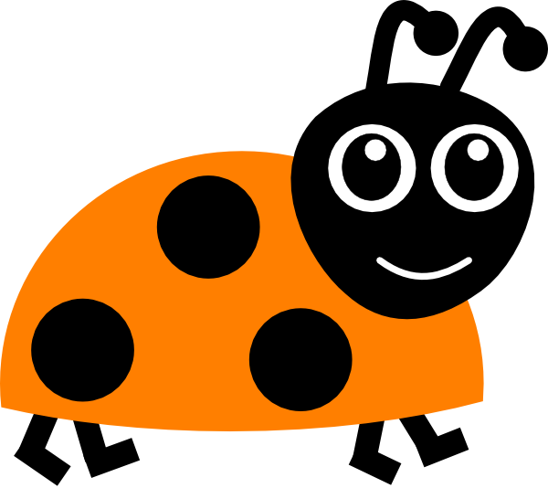 clip library library Ladybug clipart free. Orange .