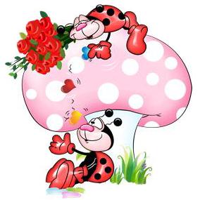jpg transparent Ladybug clipart mushroom. Resultado de imagem para