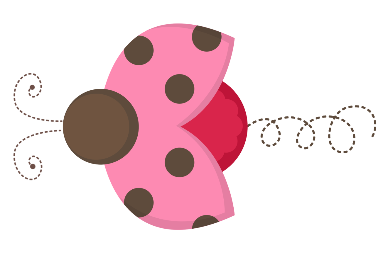 png freeuse library And brown ladybug . Tail clipart pink