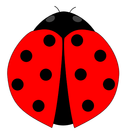 png black and white library Free on dumielauxepices net. Ladybug clipart red ladybug.