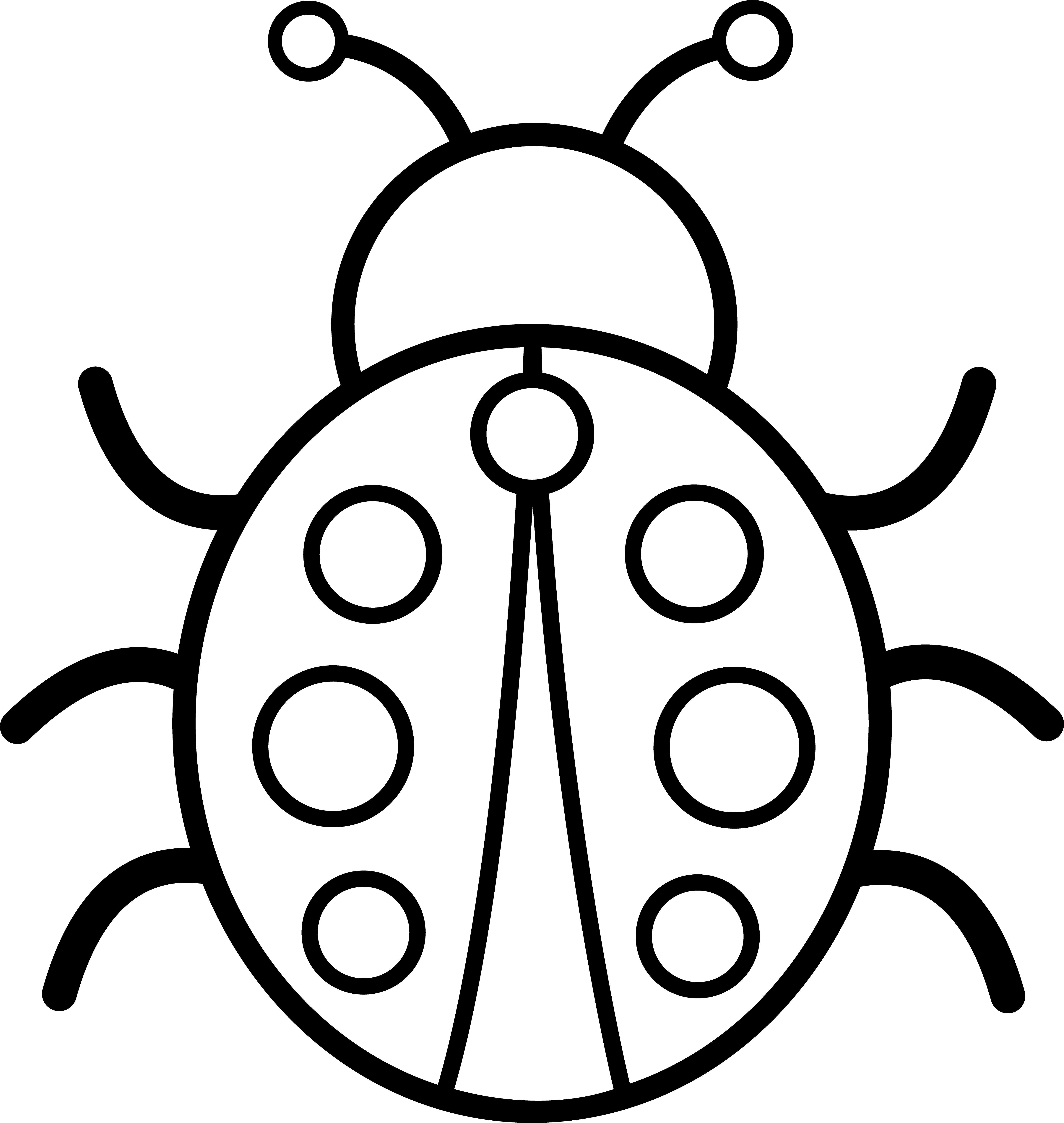 png black and white Bug clipart black and white. Branch ladybug free on