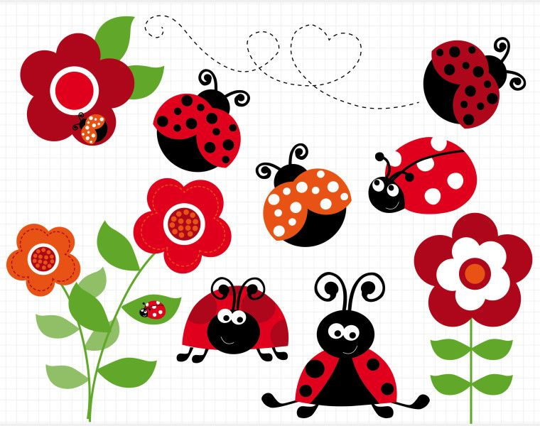 image black and white library The reward for a. Ladybugs clipart family.