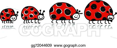 clipart black and white stock Ladybugs clipart family. Vector art ladybird for.