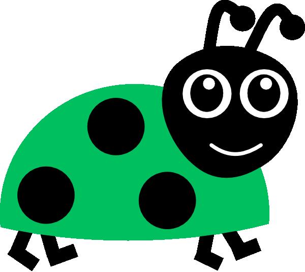 vector royalty free Green ladybug clip art. Ladybugs clipart family.