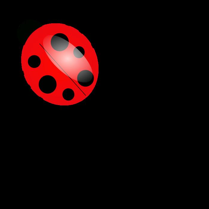 banner black and white Ladybug cartoon free on. Ladybugs clipart family.