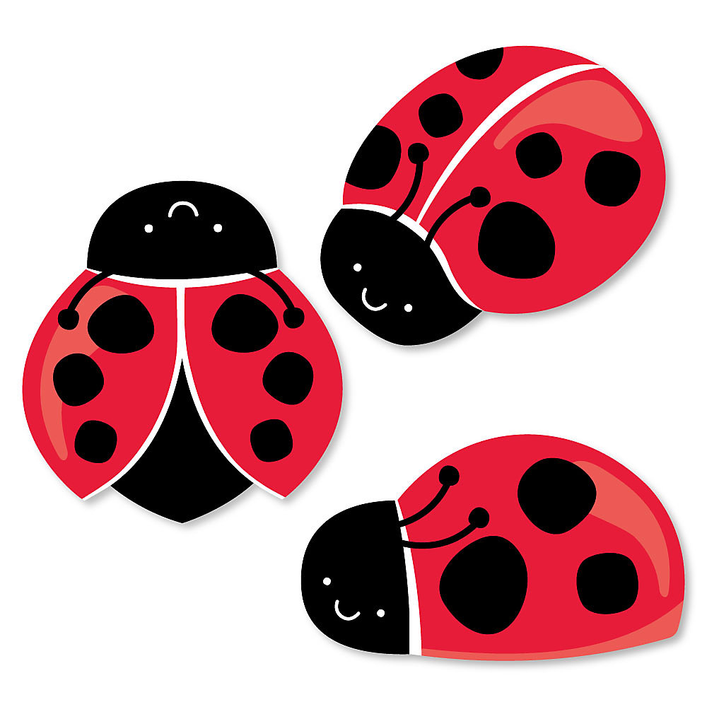 png black and white library Let s . Ladybugs clipart let's celebrate