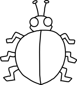 clipart free download Ladybird with no spots. Ladybugs clipart symmetrical.
