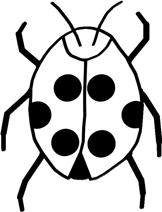 image black and white library Ladybugs clipart symmetrical. Ladybug black white panda.