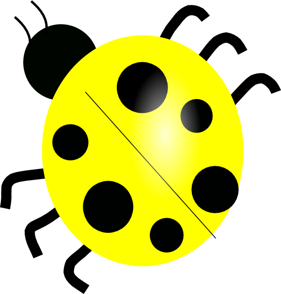 jpg freeuse Yellow ladybug clip art. Ladybugs clipart vector.