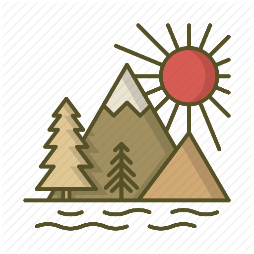 vector freeuse library Lake clipart sun set. Travel by edt im.