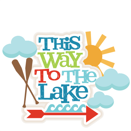 clipart freeuse This Way to the Lake Title SVG scrapbook cut file cute clipart files