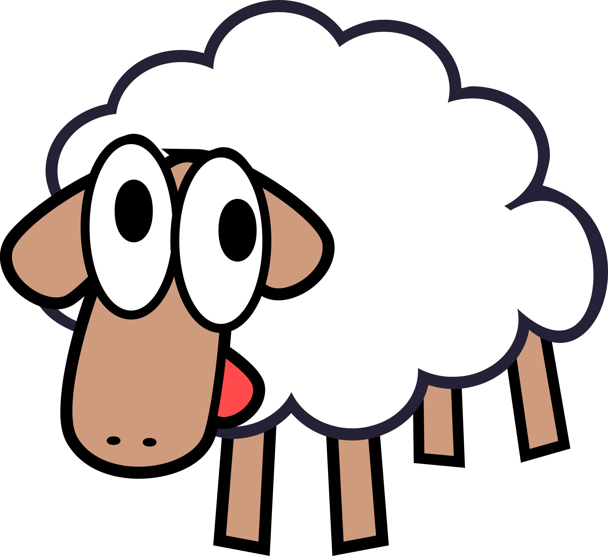 banner freeuse Sleepy sheep free on. Lamb clipart.