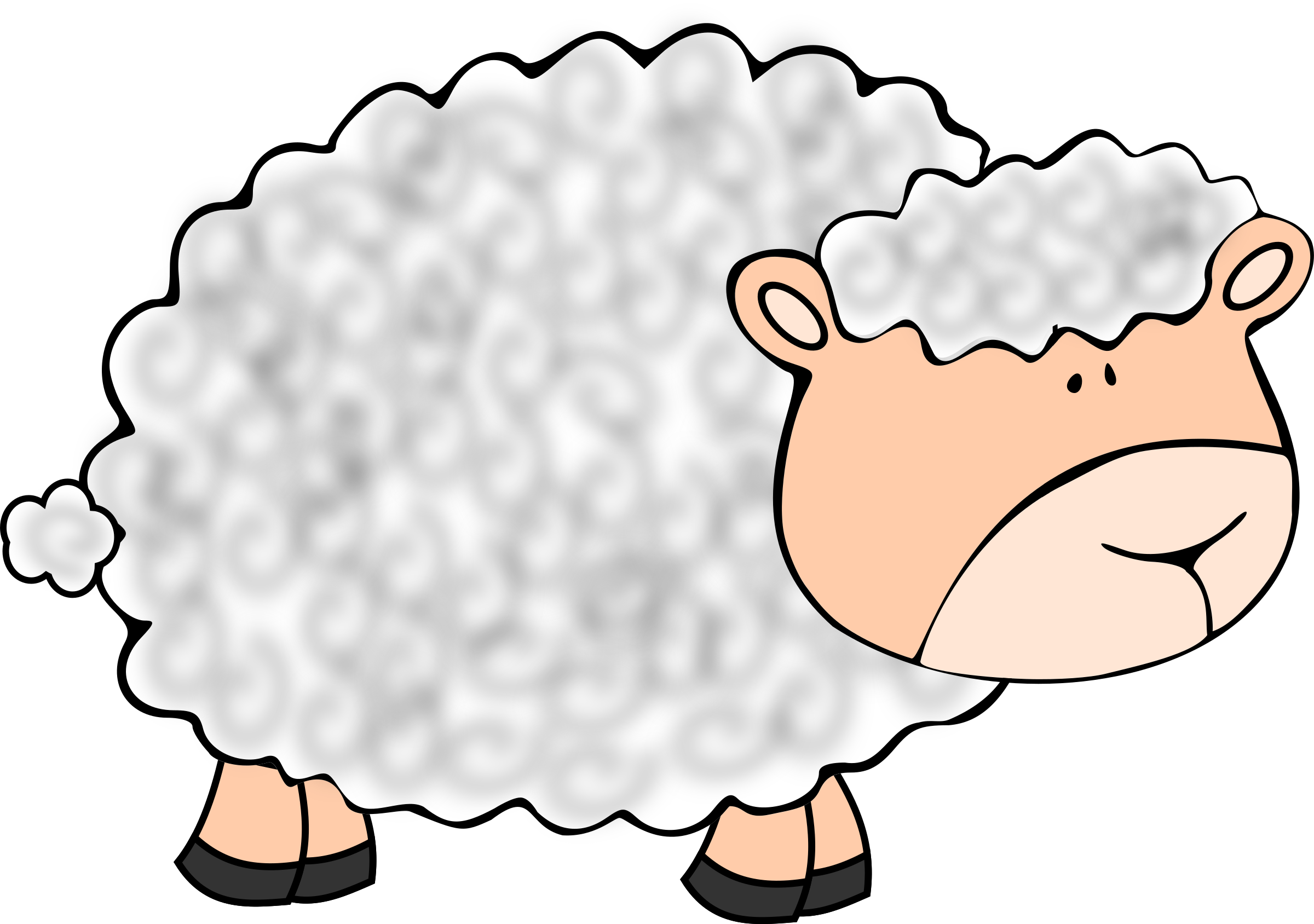 vector freeuse stock Lamb clipart. Head free on dumielauxepices