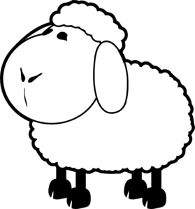 picture free Black and white panda. Lamb clipart