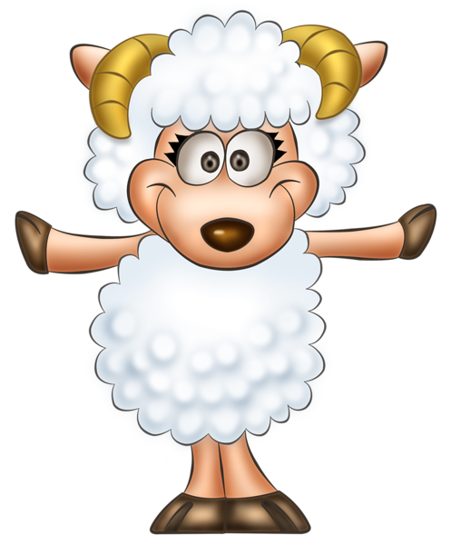 jpg transparent library Transparent cute sheep clip. Lamb clipart.